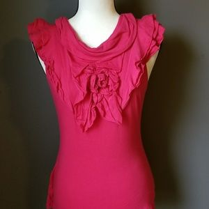 ANTHROPOLOGIE Red Sleeveless Blouse